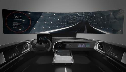 CESで披露するコネクテッドカーのコックピットのイメージ(現代自動車グループ提供)=(聯合ニュース)