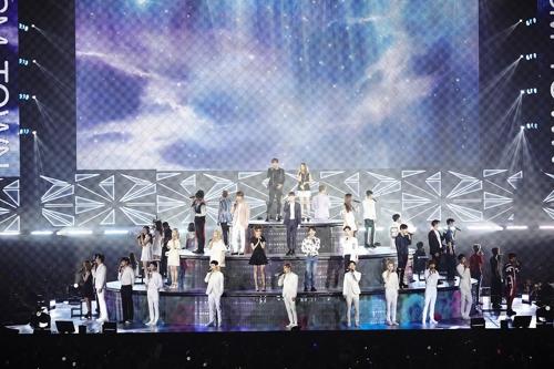昨年8月に開催された「SMTOWN LIVE TOUR V IN JAPAN」(SMエンタテインメント提供)=(聯合ニュース)