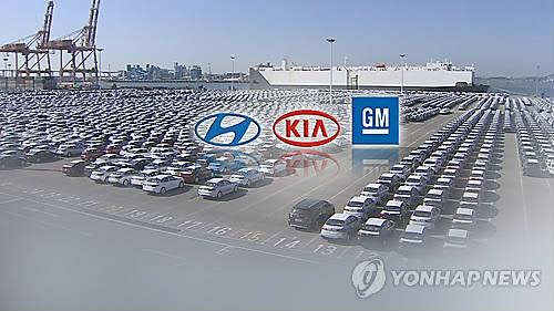 韓国完成車メーカー5社の昨年の販売台数は合計819万6053台で、前年比6.9%減少した(聯合ニュースTVより)=(聯合ニュース)
