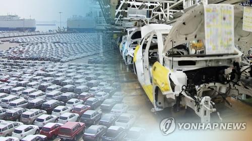 昨年の韓国の自動車産業は不振だった=(聯合ニュースTV)