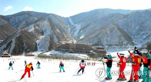 北朝鮮の馬息嶺スキー場(資料写真)=(労働新聞=聯合ニュース)