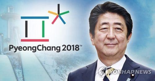 安倍首相は平昌冬季五輪開会式に出席する意向を表明した=(聯合ニュース)