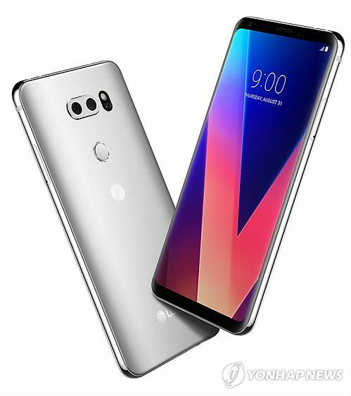 LG電子のフラッグシップスマホ「V30」(同社提供)=(聯合ニュース)