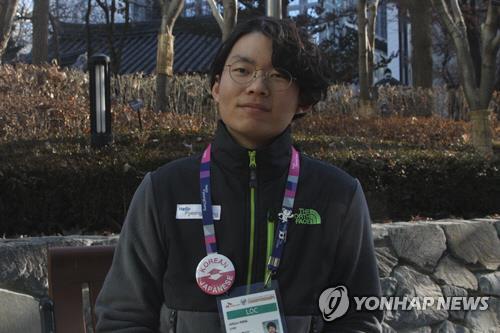日本語通訳ボランティアのカンさん=30日、ソウル(聯合ニュース)