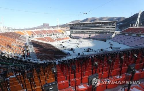 平昌五輪の開・閉会式が開かれる平昌オリンピックスタジアム=(聯合ニュース)