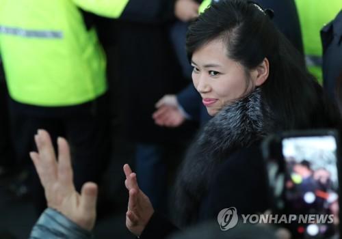 先月21日、視察団として訪韓した三池淵管弦楽団の玄松月(ヒョン・ソンウォル)団長=(聯合ニュース)
