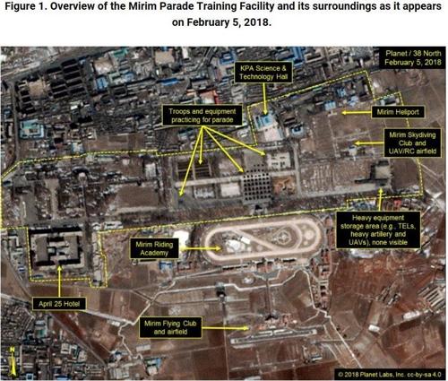 北朝鮮は閲兵式の準備を進めているとされるが、米ジョンズ・ホプキンズ大の北朝鮮分析サイト「38ノース」は、今回の閲兵式は過去に比べ規模が縮小されると分析する(資料写真、同サイトから)=(聯合ニュース)