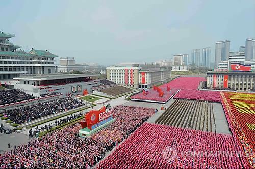 北朝鮮の過去の閲兵式(資料写真)=(聯合ニュース)