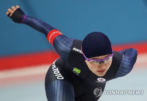 今年1月に開かれた全国冬季体育大会に出場した朴=(聯合ニュース)