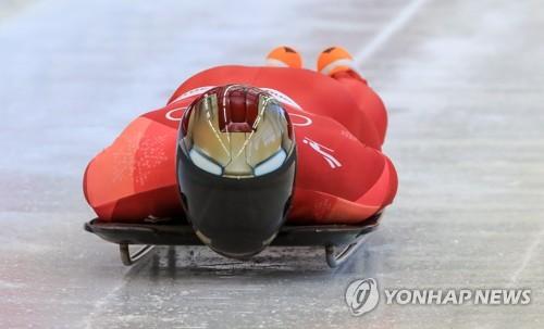 好スタートを切った尹の滑り=15日、平昌(聯合ニュース)