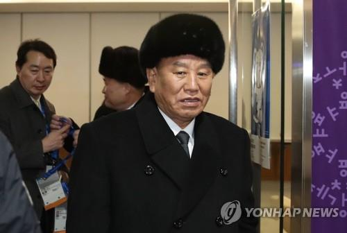 高官代表団の団長を務める金英哲氏=(聯合ニュース)