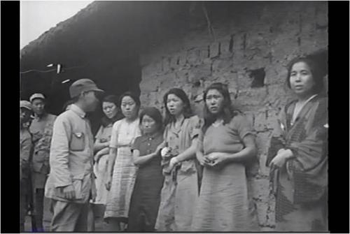 昨年7月に初公開された慰安婦の姿を収めた映像の一場面(ソウル市・ソウル大人権センター)=(聯合ニュース)