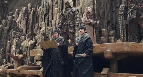 「神と共にー罪と罰」(原題)でのオ・ダルスさん(左)の出演シーン(ロッテエンターテインメント提供)=(聯合ニュース)