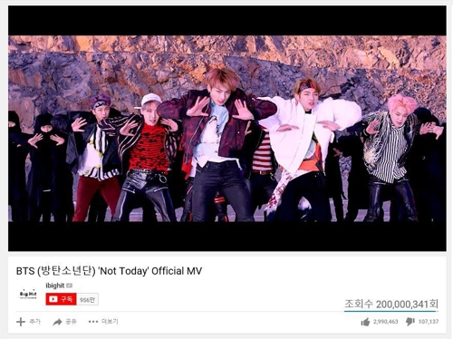 「Not Today」のミュージックビデオのワンシーン(ビッグヒットエンターテインメント提供)=(聯合ニュース)
