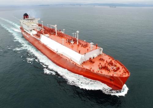 現代重工業が建造したLNG船(同社提供)=(聯合ニュース)