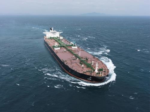大宇造船海洋が建造したVLCC(同社提供)=(聯合ニュース)