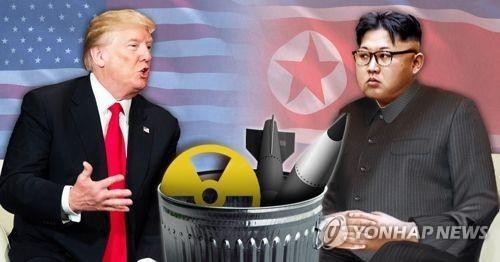 トランプ氏(左)と金正恩氏=(聯合ニュース)