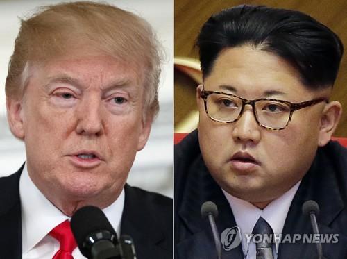 トランプ米大統領(左)と金正恩(キム・ジョンウン)朝鮮労働党委員長(資料写真)=(聯合ニュース)