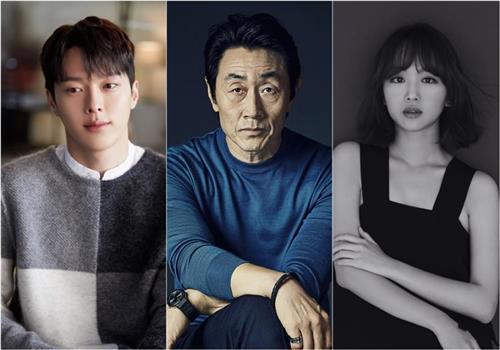 新ドラマで共演する(左から)チャン・ギヨン、ホ・ジュノ、チン・ギジュ(各所属事務所提供)=(聯合ニュース)