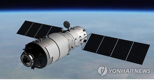 中国の宇宙実験施設「天宮1号」=(聯合ニュース)