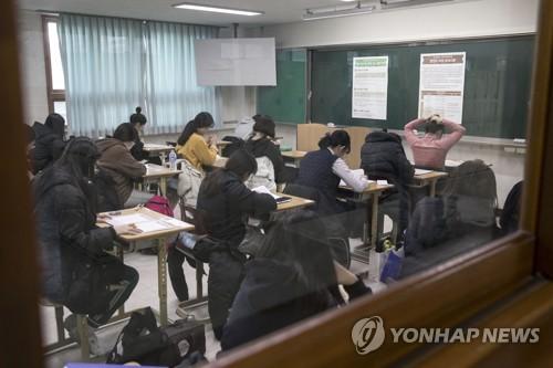 大学修学能力試験の試験会場(資料写真)=(聯合ニュース)