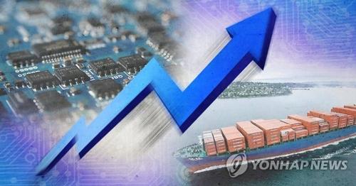 半導体などの好調で輸出は増加を続けている(コラージュ)=(聯合ニュース)
