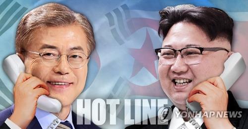 文在寅(ムン・ジェイン)大統領(左)と金正恩(キム・ジョンウン)朝鮮労働党委員長(コラージュ)=(聯合ニュース)