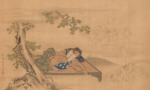 江戸時代の画家、英一蝶の「南柯夢図」(湖林博物館提供)=(聯合ニュース)
