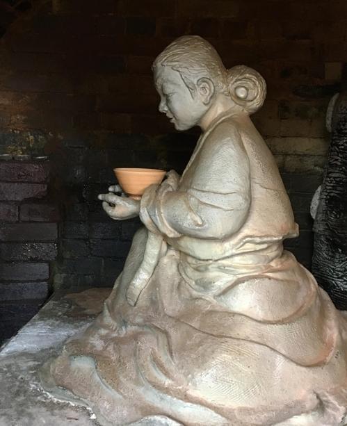 29日に除幕式が開かれる百婆仙の像(陶芸協会提供)=22日、ソウル(聯合ニュース)