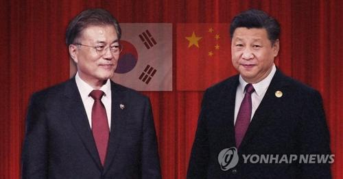 文大統領(左)と習主席(コラージュ)=(聯合ニュース)