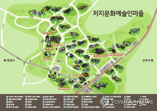 多くの施設が集まる予定の楮旨文化地区の予想図=(聯合ニュース)