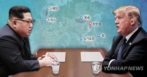 北朝鮮の金正恩委員長とトランプ米大統領(コラージュ)=(聯合ニュース)