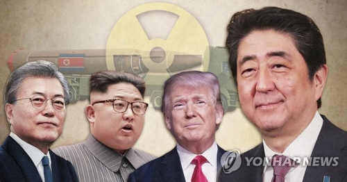 韓米日朝の首脳(コラージュ)=(聯合ニュース)