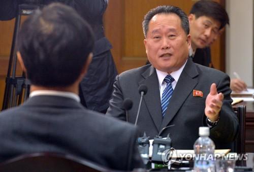 3月29日の南北閣僚級会談に出席した北朝鮮の李善権・祖国平和統一委員会委員長=(聯合ニュース)
