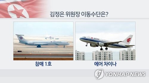 チャムメ1号(左)とエアチャイナの航空機=(聯合ニュース)