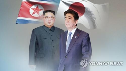 日本の安倍晋三首相(右)は北朝鮮の金正恩(キム・ジョンウン)国務委員長(朝鮮労働党委員長)との首脳会談に意欲を示している(コラージュ)=(聯合ニュース)