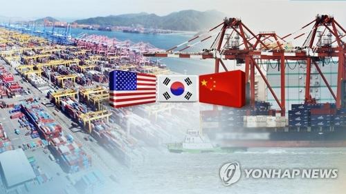 韓国政府は米中貿易摩擦が激化する兆しを見せていることを受け、官民合同で対応する(聯合ニュースTV提供・コラージュ)=(聯合ニュース)