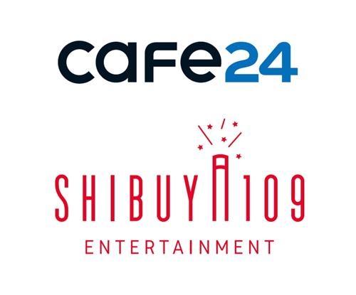 カフェ24(上)とSHIBUYA109エンタテイメントのロゴ(カフェ24提供)=(聯合ニュース)