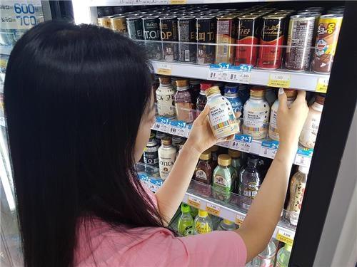 GS25の店頭に並ぶ商品(GSリテール提供)=(聯合ニュース)
