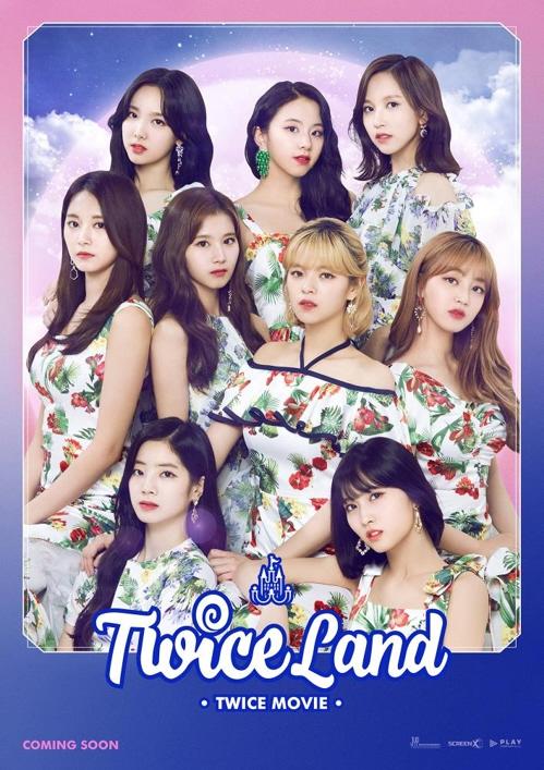 映画「TWICELAND」のポスター(JYPエンターテインメント提供)=(聯合ニュース)