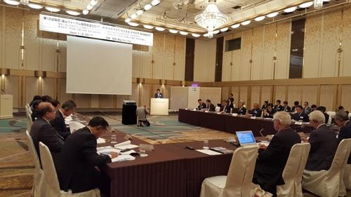 昨年日本で開かれた「釜山ー福岡フォーラム」の様子(東西大提供)=(聯合ニュース)