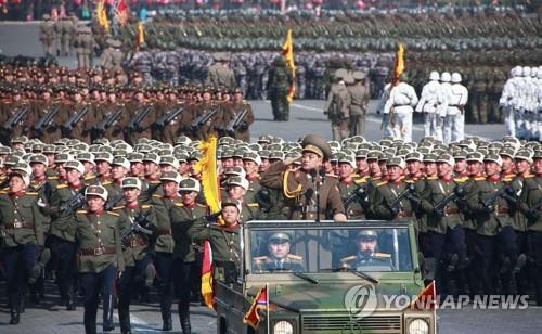 今年2月にあった軍創建70年を祝う軍事パレード=(聯合ニュース)