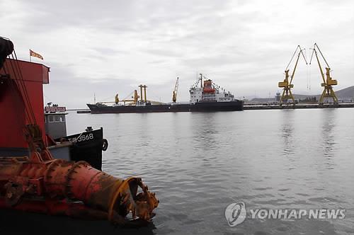 북한이 대(對)중국 광물 수출 등을 위해 준공한 단천항 모습