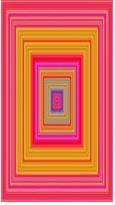 저스틴 비버의 노래 '베이비'를 색으로 표현한 닐 하비슨의 작품