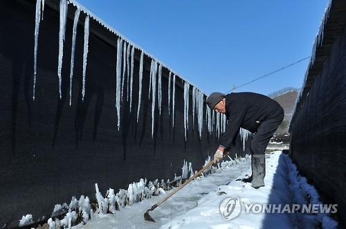 얼어붙은 중국(AFP=연합뉴스)