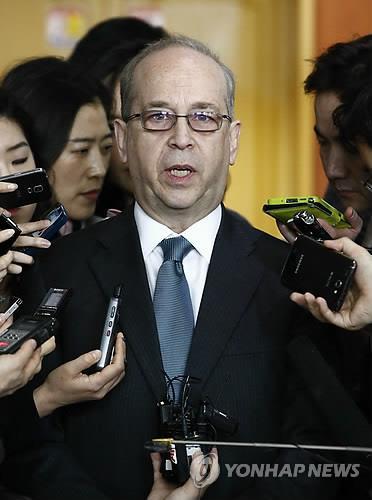 대니얼 러셀 미 국무부 동아태 차관보(EPA/JEON HEON-KYUN)