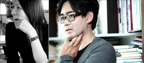 시인 이제니(왼쪽)와 소설가 김태용(오른쪽). [문학실험실 제공]