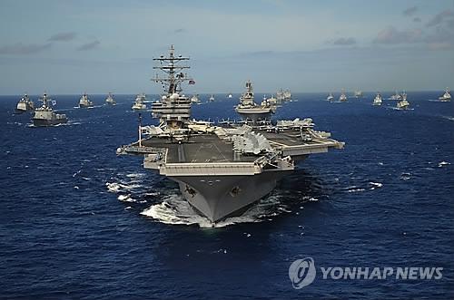 미국 핵항공모함 로널드 레이건호