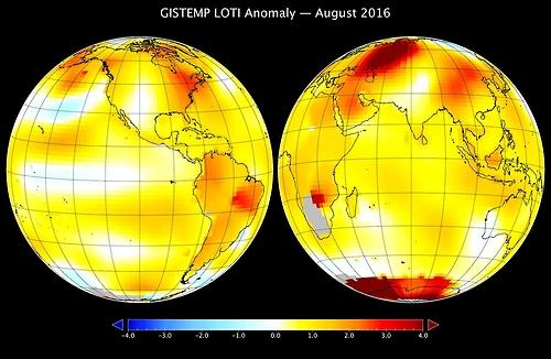 "NASA ""올해 7·8월 지구 온도, 관측 사상 가장 더워"""