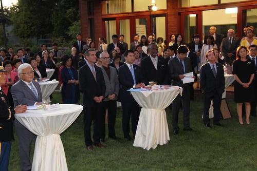 LA총영사관 개천절 행사에 캘리포니아 `정계 거물' 총출동